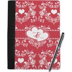 Heart Damask Notebook Padfolio (Personalized)