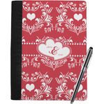 Heart Damask Notebook Padfolio (Personalized)