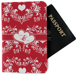 Heart Damask Passport Holder - Fabric (Personalized)