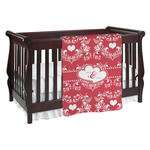 Heart Damask Baby Blanket (Personalized)