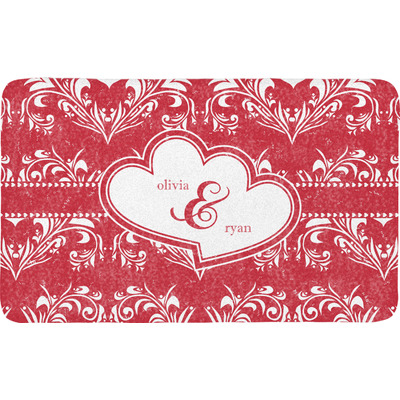 Heart Damask Bath Mat (Personalized)