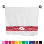 Heart Damask Bath Towel (Personalized)