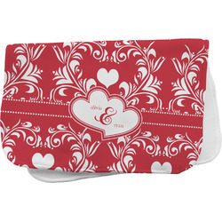 Heart Damask Burp Cloth (Personalized)
