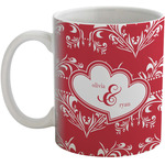 Heart Damask Coffee Mug (Personalized)