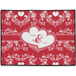 Heart Damask Door Mat (Personalized)