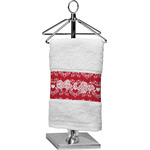 Heart Damask Cotton Finger Tip Towel (Personalized)