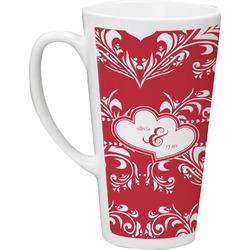 Heart Damask Latte Mug (Personalized)