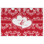 Heart Damask Placemat (Laminated) (Personalized)