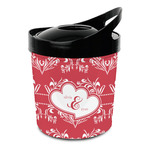 Heart Damask Plastic Ice Bucket (Personalized)