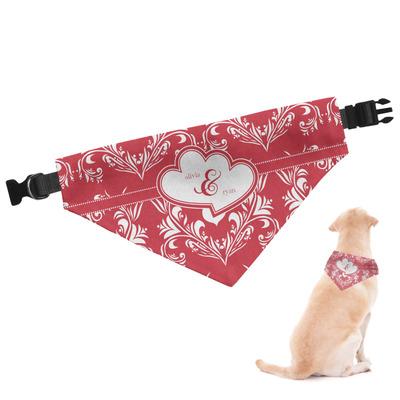 Heart Damask Dog Bandana (Personalized)