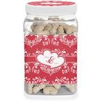 Heart Damask Dog Treat Jar (Personalized)