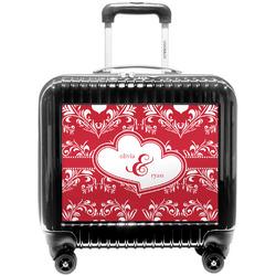 Heart Damask Pilot / Flight Suitcase (Personalized)