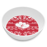 Heart Damask Melamine Bowl 8oz (Personalized)