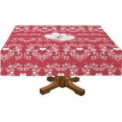 Heart Damask Tablecloth (Personalized)