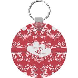 Heart Damask Keychains - FRP (Personalized)