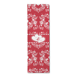 Heart Damask Runner Rug - 3.66'x8' (Personalized)