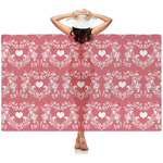 Heart Damask Sheer Sarong (Personalized)