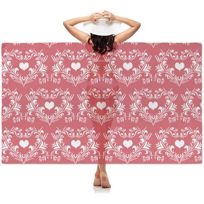Heart Damask Sheer Sarong (Personalized)
