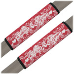 Heart Damask Seat Belt Covers (Set of 2) (Personalized)