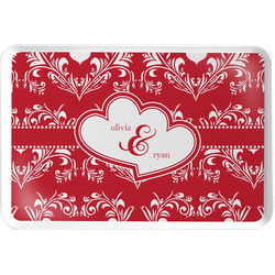 Heart Damask Serving Tray (Personalized)