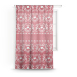 Heart Damask Sheer Curtains (Personalized)