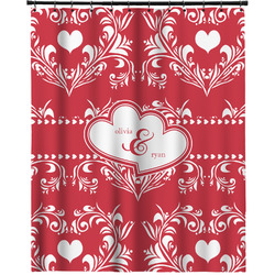 """Heart Damask Extra Long Shower Curtain - 70""""x84"""" (Personalized)"""