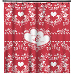 Heart Damask Shower Curtain (Personalized)