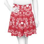 Heart Damask Skater Skirt (Personalized)