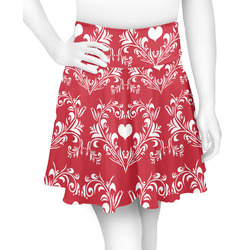 Heart Damask Skater Skirt (Personalized)