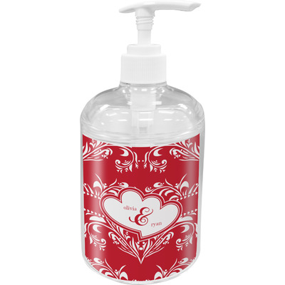 Heart Damask Soap / Lotion Dispenser (Personalized)