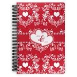 Heart Damask Spiral Bound Notebook (Personalized)