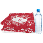 Heart Damask Sports & Fitness Towel (Personalized)
