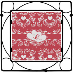 Heart Damask Square Trivet (Personalized)