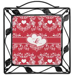 Heart Damask Trivet (Personalized)