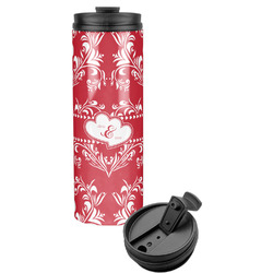 Heart Damask Stainless Steel Travel Tumbler (Personalized)