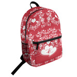 Heart Damask Student Backpack (Personalized)