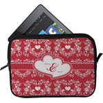 Heart Damask Tablet Case / Sleeve (Personalized)