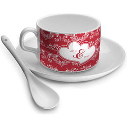 Heart Damask Tea Cups (Personalized)