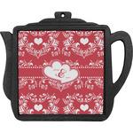 Heart Damask Teapot Trivet (Personalized)