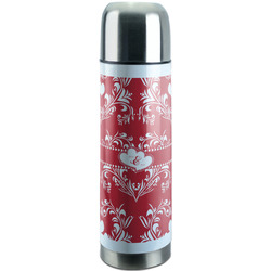 Heart Damask Stainless Steel Thermos (Personalized)
