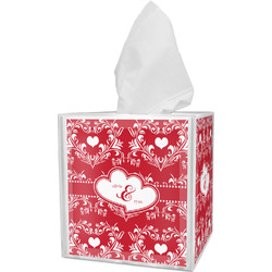 Heart Damask Tissue Box Cover (Personalized)
