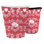 Heart Damask Waste Basket (Personalized)