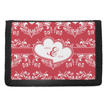 Heart Damask Trifold Wallet (Personalized)