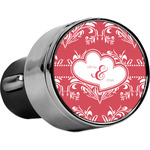 Heart Damask USB Car Charger (Personalized)
