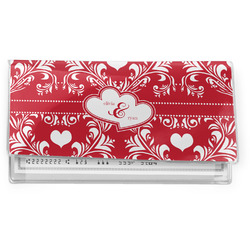 Heart Damask Vinyl Checkbook Cover (Personalized)