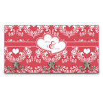 Heart Damask Wall Mounted Coat Rack (Personalized)