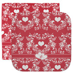 Heart Damask Facecloth / Wash Cloth (Personalized)