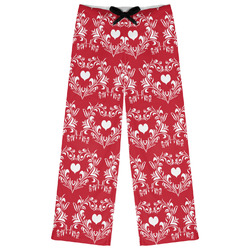 Heart Damask Womens Pajama Pants (Personalized)