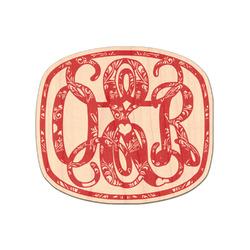 Heart Damask Genuine Wood Sticker (Personalized)