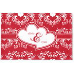 Heart Damask Woven Mat (Personalized)